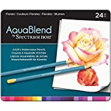 Crafters Companion Spectrum Noir AquaBlend Pencils - Florals 24pcs