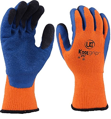 UCi KOOLgripTM Thermo-Star Latex Palm Geschütztes Cold Winter -Grip-Handschuhe (8 - Medium , orange)