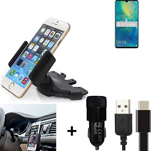 k-s-trade® top set per huawei mate 20 x 5g + caricabatteria supporto slot cd smartphone per auto dispositivi di navigazione montaggio autoradio titolare staffa per huawei mate 20 x 5g fatto per