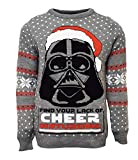Star Wars Official Darth Vader Christmas Jumper/Ugly Sweater (UK M/US S)