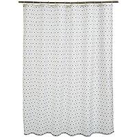 AmazonBasics - Tenda da doccia in tessuto con motivo stampato
