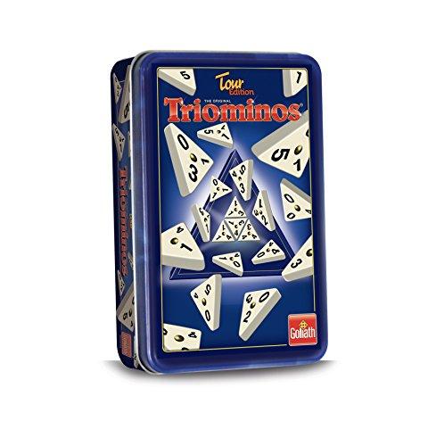 Triominos 60632 Goliath Tour Edition, das spannende Anlegespiel, ab 6 Jahren, weiß