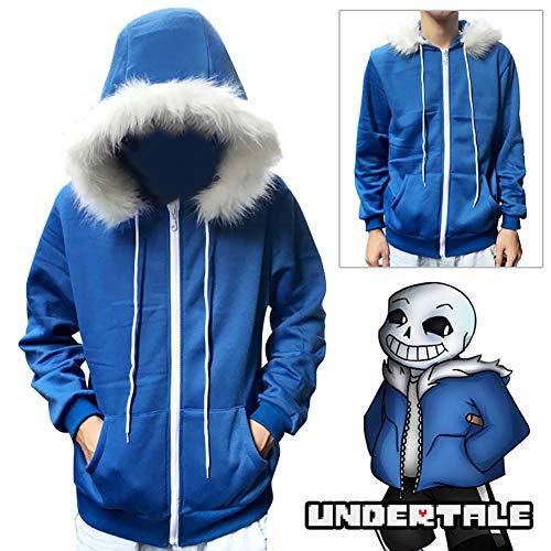 8f8fea24 wrrry Undertale Kapuzen Pullover von Sans Blau Hoodie Jacke Kapuzenpullover  Cosplay Kostüm