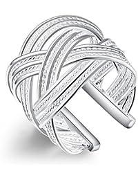 Impression 1PCS Ringe Ring Romance Temperament Diamant-Ring Mode-Ring Schmuck-Girl Zubehör Valentinstag Geschenke aus Glas Hochzeit Ring offen