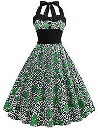 77ae44e27e61 Siswong Vintage Vestito Donna Elegante St. Patrick s Day Abito