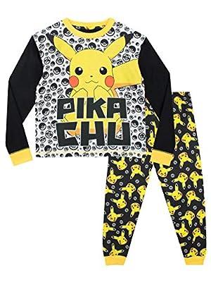 Pokèmon Pijamas de Manga Larga para niños Pikachu