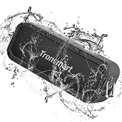 Bluetooth speaker 5.0, Tronsmart Force 40W Portable Speaker With 3D Stereo, Extra Bass, IPX7 Waterproof,15 Hours Playtime,TWS,Voice Assistant,100ft Bluetooth Range For Travel, Party, works with Alexa by Tronsmart