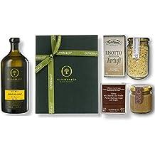 Coffret Tartufo by Oliviers&Co   Huile d'Olive Extra-Vierge Bio, Crème Cèpes & Truffe, Risotto à la truffe