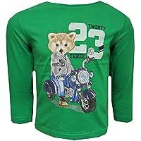 Mayoral–Maglietta a maniche lunghe con motociclista Print, colore: verde