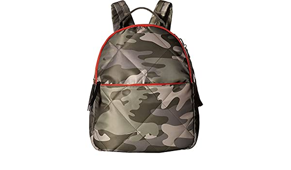 d4ad74d112b1 Tommy Hilfiger Women s Kensington Camo Nylon Backpack Green One Size  Amazon.co.uk   Clothing