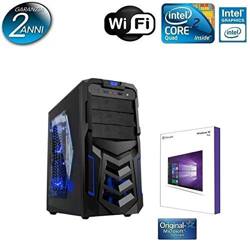 PC DESKTOP ARES LED BLU INTEL QUAD CORE CON LICENZA WINDOWS 10 PROFESSIONAL 64 BIT ORIGINALE /WIFI/HD 1TB SATA III/RAM 8GB 1600MHZ/ INGRESSI HDMI-DVI-VGA/USB 2.0 3.0/DVD-RW/VENTOLA LED 12M BLU/ PC FISSO COMPLETO PRONTO ALL'USO ,PER UFFICIO,CASA,GIOCHI,ALANTIK ARES BLU