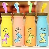 Mttheaw como imagen (al azar) 1 botella de agua de dibujos animados creativa de acero inoxidable para niños taza de zumo portátil personalizado para niños