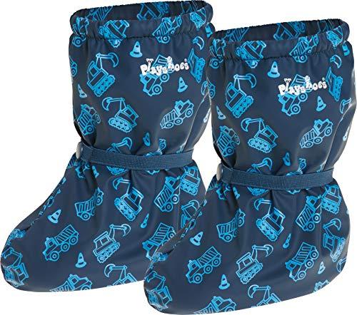 Playshoes Baby Jungen Regenfüßlinge mit Fleece Baustelle Stiefel, Blau (Marine 11), M