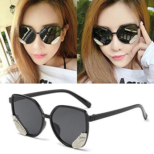 Occhiali da sole occhiali da sole ladies donna cappuccio di usura oversize occhiali classici designer occhiali da sole stile di moda fettine nere con cornice nera (panno per sacchi)