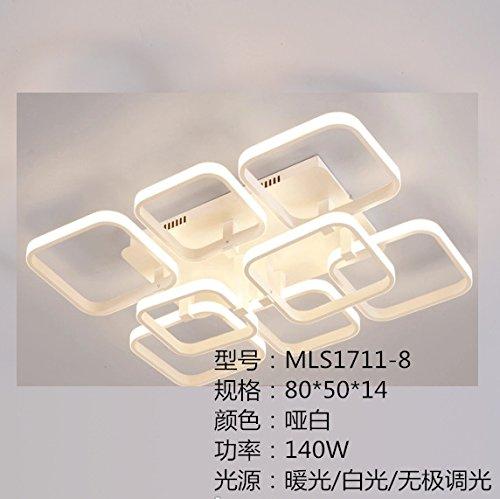 Moderne Deckenleuchten_modernen minimalistischen led Deckenleuchten Großhandel kreatives Studium Schlafzimmer lampe Aluminium nach modernen Wohnzimmer Lampen, MLS 1711-8 80 * 50 * 14 weißes - Mls-led