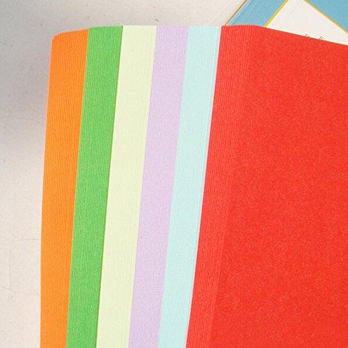 Badalin 100 x Tonpapier Buntpapier Klappmappe Bastelpapier Farbig Sortiert 50 Blatt Größe 26cm x 19cm 10 x 10Farben