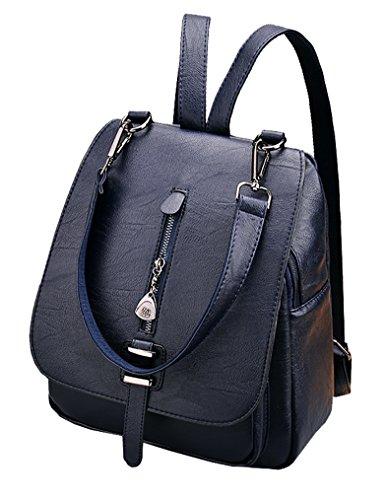 Himaleyaz Mädchen Rucksack Handtasche mit abnehmbaren Schultergurt Lady Schultertasche Rucksack Bequeme PU Leder rot Blau