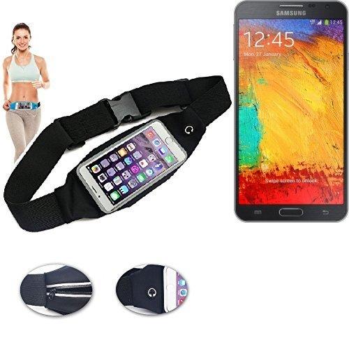 Für Samsung Galaxy Note 3 Neo LTE+Gürteltasche Umhängetasche Bauchtasche schwarz Sport Running Jogging Fitness Laufen Exercise Schutzhülle für Samsung Galaxy Note 3 Neo LTE+ - K-S-Trade (TM) (Umhängetasche Neo)