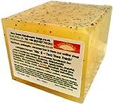 Handmade Natural Tea Tree Soap Loaf - Range No.5 - Acne / Blackhead / keratosis Pilaris / Athlete's Foot / Hidradenitis Suppurativa Relief - 400g Money Saver Loaf