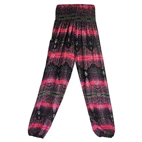 TUDUZ Thai Hippie Hose Hosenrock Haremshose Pumphose für Damen & Herren (X-Pink, S-XL)