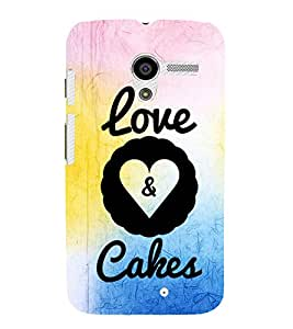 EPICCASE cake of love Mobile Back Case Cover For Moto X (Designer Case)
