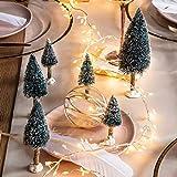 Lights4fun 6er Set Mini Deko Weihnachtsbäume