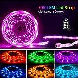 Led Strip 5M,SHINELINE Led Lichtband Led Band SMD5050 RGB Led Strip mit Fernbedienung und...