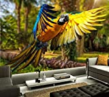 Fototapete Vögel Papageien Federn Tiere Tapete Wohnzimmer Sofa Tv Wand Schlafzimmer Foto 3D Tapete 3D Wandbild