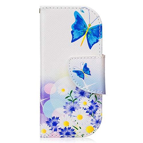 Ekakashop Colorata Pattern Disegno Materiale PU Leather Magnetico Progettato Flip Folio Case Cover Custodia Compatibile con Nokia 3310(2017) Kickstand (Colore Casuale) - Farfalla e Fiore