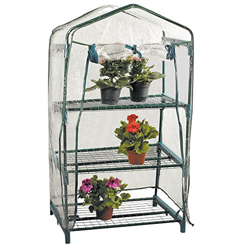 Home Discount 3 Tier Greenhouse Mini Garden Shelves With Cover
