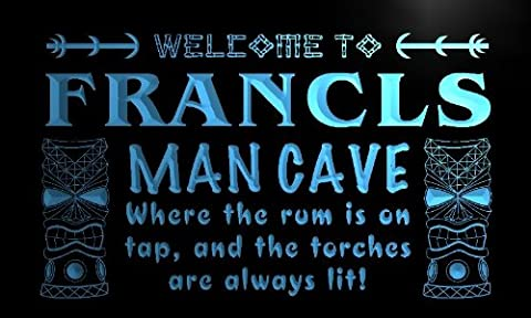 x0126-tm Francis Man Cave Tiki Bar Custom Personalized Name Neon Sign Enseigne Lumineuse