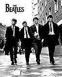Poster, Plakat - Beatles - in london, Stilvolle Bilder, die Ihnen helfen, die Wohnung oder das Büro zu erleuchten. Qualitätsgarantie. Das perfekte Design, Linien und Farben bringen in Ihr Haus die richtige Atmosphäre., 40 x 50 cm