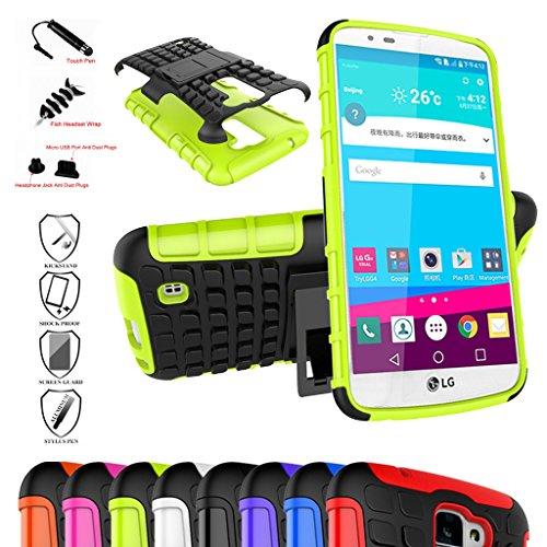 LG K10 Smartphone Kick-Ständer Hülle,Mama Mouth [Heavy Duty] Rugged Armor stoßfest Handy Schutzhülle Silikon Tasche Ständer Hülle Case mit Standfunktion für LG K10 LTE M2 K SERIES 2016 Smartphone,Grüne