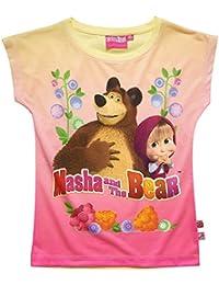 Mascha und der Bär Mädchen T-Shirt - türkis