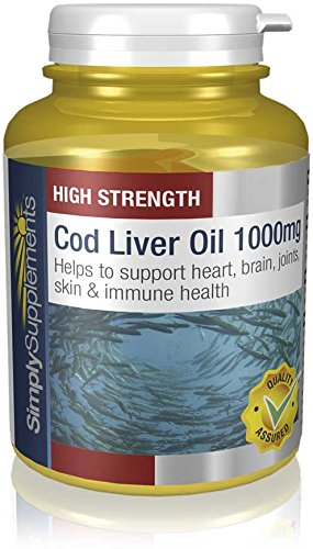Cod Liver Oil 1000mg | Rich in Omega 3 Fatty Acids | 180+180 (360) Capsules | 100% Money Back Guarantee | Manufactured in the UK Test