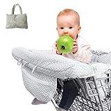 Housse de chaise haute Réglable Bébé Supermarché Shopping Trolley Protège Siège universelle pour tout-petits - housses de coussins de panier avec sac de transport - sécuritaire pour des enfants