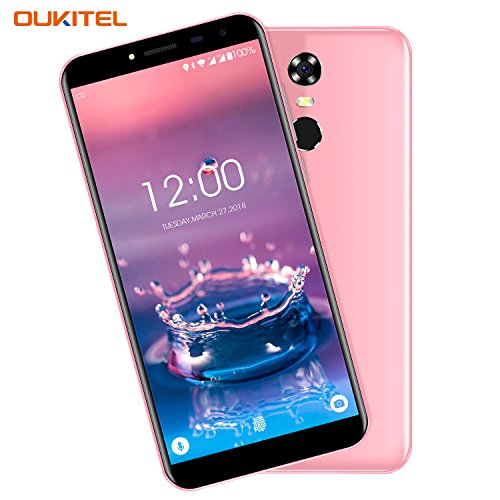 Günstiges Handy, Oukitel C8 3G Smartphone 5.5 Zoll (18:9 Display) 3000mAh Akku Android 7 16GB Interner Speicher 2GB RAM 13MP Kamera Dual Sim Handy mit Fingerabdrucksensor