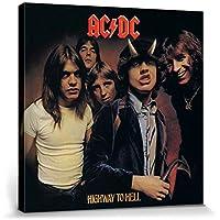 1art1® AC/DC - AC/DC Highway To Hell Cuadro, Lienzo Montado Sobre Bastidor (40 x 40cm)