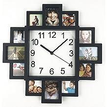 DIY marco de fotos, reloj, timelike DIY reloj de pared diseño moderno DIY reloj plástico reloj Art imágenes único Klok decoración del hogar–hacer su propio–Marco Reloj