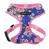 Urban Pup Pink/Blue Floral Burst Harness X-Large