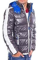 Winterjacke Herren Jacke Redbridge by Cipo & Baxx Winter Bomberjacke Kapuze Slim Fit Übergangsjacke Kosmo Japan Style Look Glanz Stepp Optik
