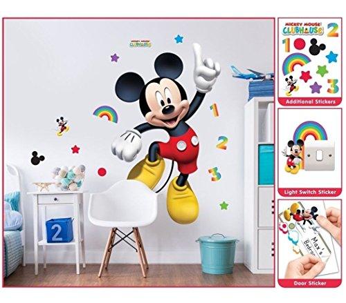 Spielwaren Klee Mickey Mouse Wandsticker XXL 1,22 m Kinderzimmer Dekoration Wandbild Wandtattoo