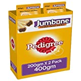 #4: Pedigree Jumbone Adult Dog Treats, Chicken and Rice, 200 g Pouch (Pack of 2)