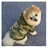 Pets Plush Sweater Clothes, Transer® Dogs/Cats Vests Pets Hoodie Warm Clothes Dogs Outwears Hooded Coats for Dressup Doggy Costumes Puppy/Kittens Apparel Clothing (M, Army Green)