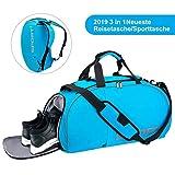 LC-dolida Sporttasche 35 L, 3 in 1 Reisetasche mit Schuhfach wasserdicht,Fitness Tasche Sporttasche...