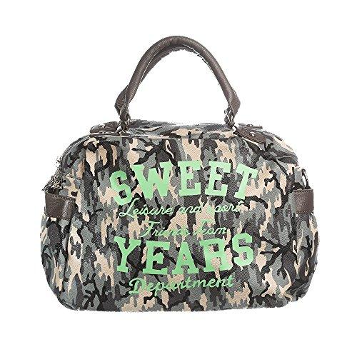 Sweet Years Borsa Donna - Mod. 2454 FLY Mimetico – Verde