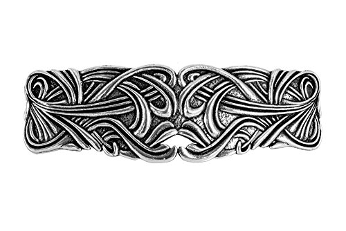 Art Nouveau Swirl Haarspange | Handgefertigte, metallene Haarspange mit importierten französischen Clips Von Oberon Design