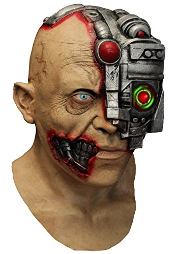 Maske Animierter Cyborg (Cyborg Für Kostüm Erwachsene)