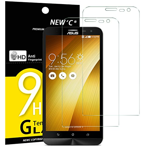"NEW'C Lot de 2, Verre Trempé pour ASUS ZenFone 2 Laser ZE601KL (6""), Film Protection écran - Anti Rayures - sans Bulles d'air -Ultra Résistant (0,33mm HD Ultra Transparent) Dureté 9H Glass"