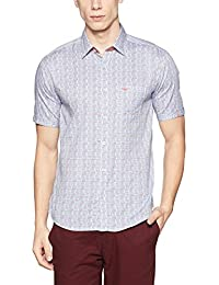 Park Avenue Men's Solid Slim Fit Cotton Casual Shirt